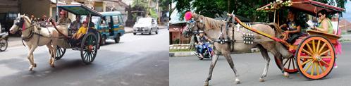 Dokar in de grote steden van Indonesië