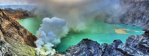 Groene Ijen-Vulkaan