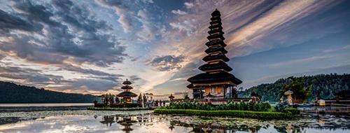 Indonesie Bedugul Ulun Danu Tempel Het Noorden van Bali