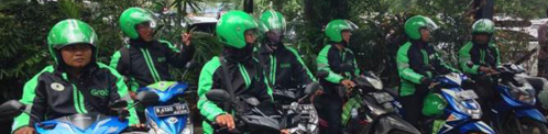 Ojek de motortaxi in Indonesië