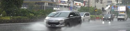 Regenbuien in Indonesië kort maar heftig