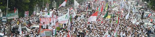 Betoging door Moslims Jakarta 2016