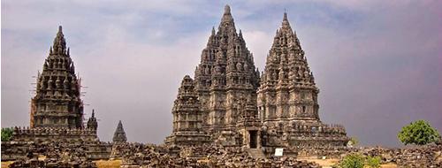 Jogjakarta Hindoeistische Prambanan tempels per Becak naar het Paleis van de Sultan