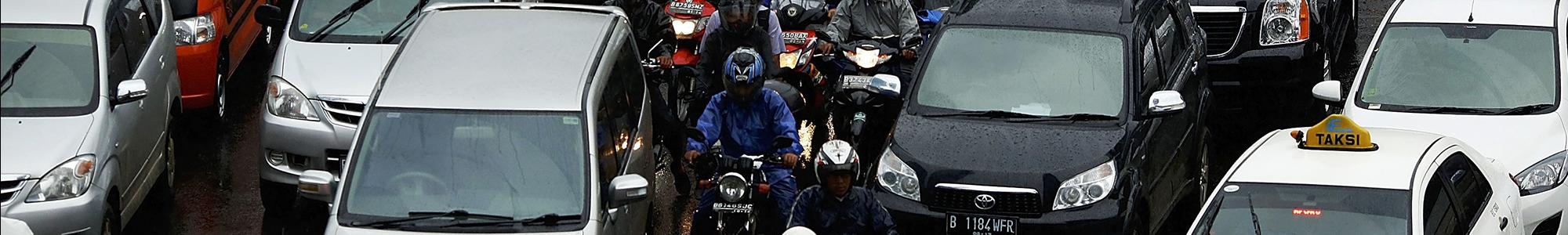 verkeersdrukte indonesië